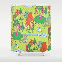 Bunny Land Shower Curtain