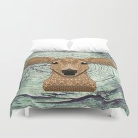 bambi Duvet Covers featuring Bambi by ArtLovePassion