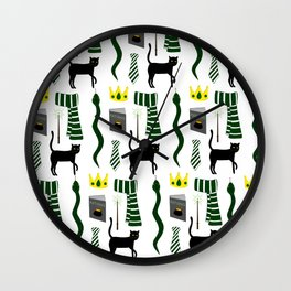 The House of Slytherin Pattern Wall Clock