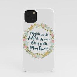 May Flowers brush script iPhone Case