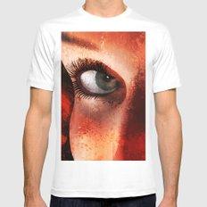 Eyes Mens Fitted Tee MEDIUM White