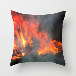 Fire and smoke Throw Pillow