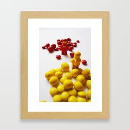 Red & Yellow - candy Framed Art Print