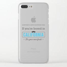 075 California Clear iPhone Case