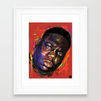notorious Framed Art Prints featuring Notorious  by Tetevi Teteh