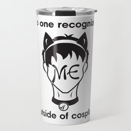 Recognize CAT- Black print Travel Mug
