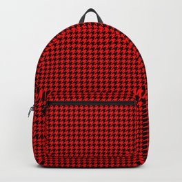 Australian Flag Red and Black Houndstooth Check Backpack