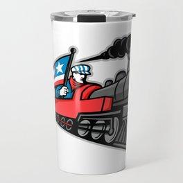 American Steam Locomotive Mascot Travel Mug