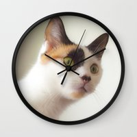 depeche mode Wall Clocks featuring Investigation Mode by GEEKY CREATOR