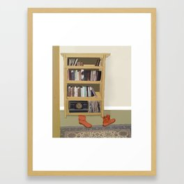 Red Boots Framed Art Print