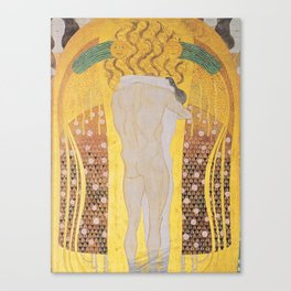Gustav Klimt - Diesen Kuss der ganzen Welt Canvas Print