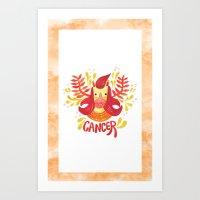 12 Zodiacs : Cancer Art Print
