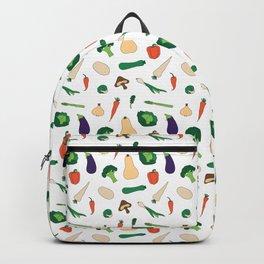 Vegies Pattern White Backpack