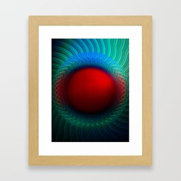Scarlet Vortex Framed Art Print