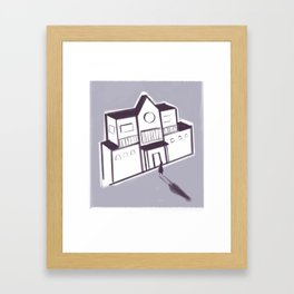 Unhaunted Mansion Framed Art Print