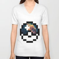 pokeball V-neck T-shirts featuring Pokeball Galaxy by Oscar Da Chef Karlsson