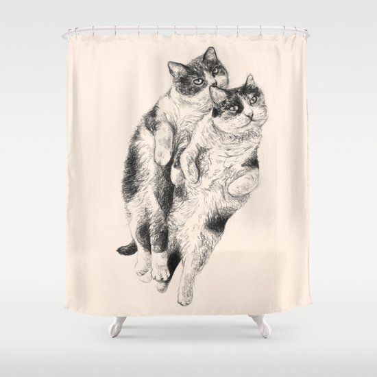 Cats Shower Curtain By Anna Shell