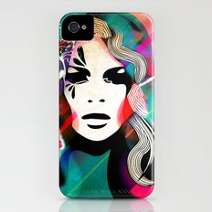 colorful hair Slim Case iPhone (4, 4s)