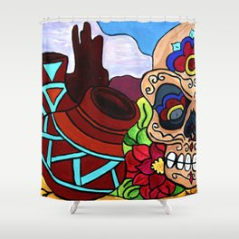Arizona Sugar Skull Shower Curtain