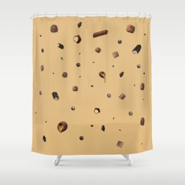 Falling chocolates Shower Curtain
