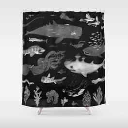Dangers of the Deep Unknown Shower Curtain