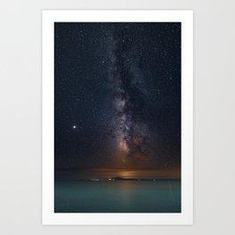 Milky Way Galaxy Poster, Star Digital Print, Night Sky Photography, Starry Sky Printable, Greece Art Print