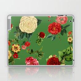 Green vintage roses Laptop & iPad Skin
