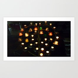 candle alter Art Print