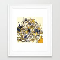 movies Framed Art Prints featuring Movies Explosion by zaMp