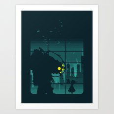 Come on, Mr. Bubbles! Art Print