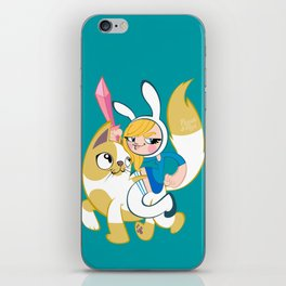 Time for some adventures! (Fionna & Cake) iPhone Skin