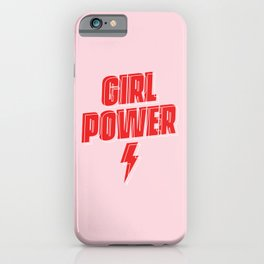 GRL PWR - Girl Power 9 (in Red) iPhone Case