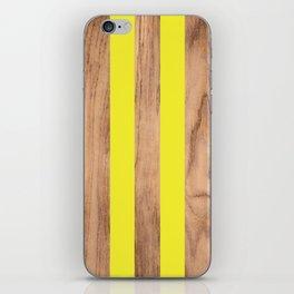 Wood Grain Stripes Yellow #255 iPhone Skin