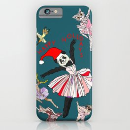 Hipster Holiday Ballerinas iPhone Case