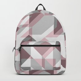 Modern Art Geometric Wine Backpack