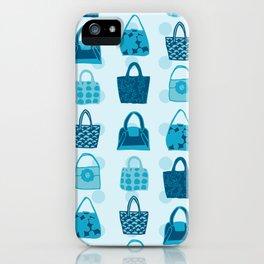 Handbag Heven Blues with Spots iPhone Case