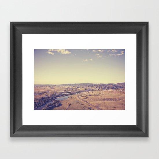 dream world::denver Framed Art Print