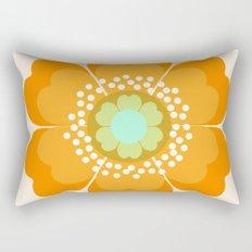 Jivin' - 70's retro throwback art floral flower motif decor hipster Rectangular Pillow
