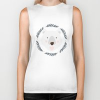 polar bear Biker Tanks featuring polar bear by Taranta Babu