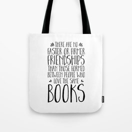 Bookish Friendships Tote Bag