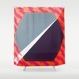 London - color hexagon Shower Curtain
