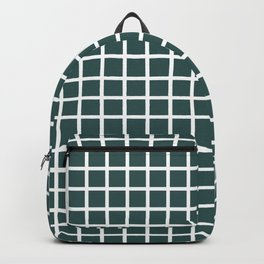 Grid (White & Jungle Green Pattern) Backpack
