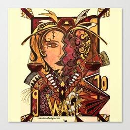 Astrology Libra Waage Canvas Print