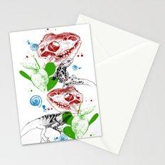 Lizards pattern (color) Stationery Cards