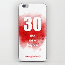 AgeIsJustANumber-30-StrawberryPopA iPhone Skin