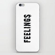 Too Many Feelings iPhone & iPod Skin