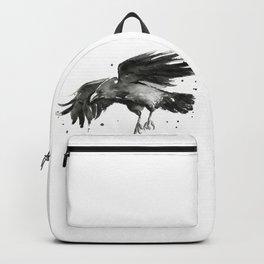 Raven Watercolor Backpack