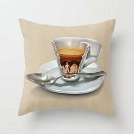 Italian coffee 2.0 Throw Pillow