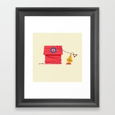 The Red Baron or Snoopy's Doghouse Framed Art Print