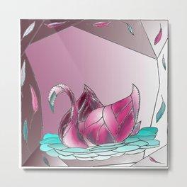 Swan Song in Technicolor Metal Print